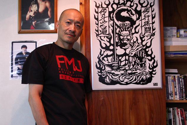 札幌ブラジリアン柔術の指導者・俵谷実さん、大好きな不動明王と